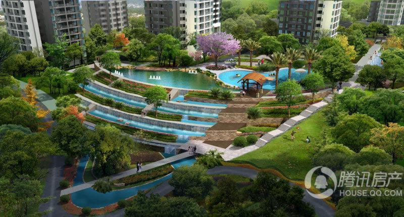 首创鸿恩国际生活区一期中庭景观