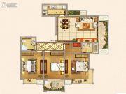 仁和景苑3室2厅2卫130平方米户型图
