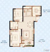 绿洲白马公馆3室2厅1卫99平方米户型图