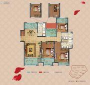 弘阳上湖4室2厅2卫136平方米户型图