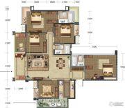 巴黎时光5室2厅3卫137平方米户型图