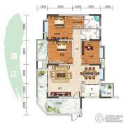 长阳清江山水・最山水3室2厅2卫150平方米户型图