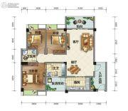 荣华山庄二期温情港湾3室2厅2卫113平方米户型图
