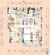美的翰诚3室2厅3卫164平方米户型图