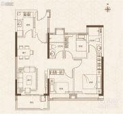 融创御园3室2厅2卫87平方米户型图