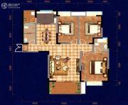 中天・宝电馨城3室2厅2卫134平方米户型图