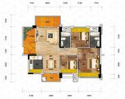 优格国际3室2厅2卫100平方米户型图