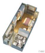 证大大拇指广场1室1厅1卫41平方米户型图