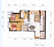 融城优郡3室2厅2卫109平方米户型图