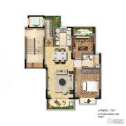新南浔孔雀城1室2厅1卫0平方米户型图
