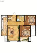 雍雅锦江2室2厅1卫85平方米户型图
