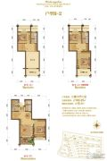 大港御景新城2室2厅2卫100平方米户型图