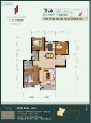 汇福悦榕湾3室2厅2卫115平方米户型图
