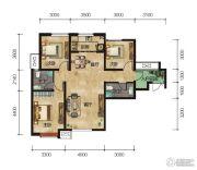 中拓世纪天骄3室2厅2卫116平方米户型图