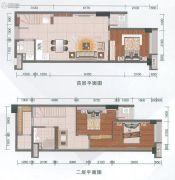 融达领寓3室2厅2卫65平方米户型图