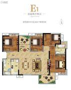 广州万达城4室2厅2卫133平方米户型图