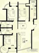 星河御城3室2厅2卫125平方米户型图