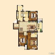 中粮祥云3室2厅2卫115平方米户型图