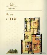 意林・国际公园2室2厅2卫102--108平方米户型图