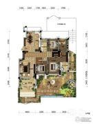 观山悦公馆4室2厅2卫189平方米户型图
