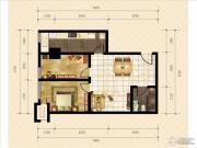 金桥国际2室2厅1卫70平方米户型图
