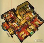万科中梁・金域中央4室2厅2卫118平方米户型图