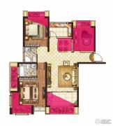 中大城3室2厅2卫90平方米户型图