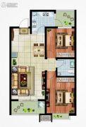 永邦天汇2室2厅1卫94平方米户型图