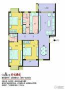 上海花园・新外滩3室2厅2卫123平方米户型图
