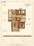 金地悦峰3室2厅2卫131平方米户型图