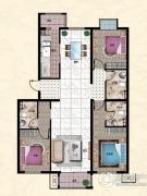 行宫・御东园3室2厅2卫155平方米户型图
