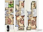 绿洲天逸城4室2厅3卫150平方米户型图