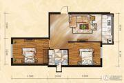 金山翰林苑2室1厅1卫77平方米户型图