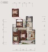 仙居新城吾悦广场3室2厅2卫132平方米户型图