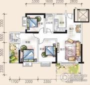 吉蔚苑3室2厅2卫0平方米户型图