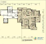 深业堤亚纳湾3室2厅2卫131平方米户型图