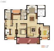 公馆18954室2厅2卫135平方米户型图