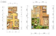 天朗大兴郡3室2厅2卫170平方米户型图