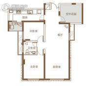 北辰三角洲3室2厅1卫109平方米户型图