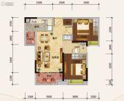 绿地新里缇香公馆2室2厅1卫74平方米户型图
