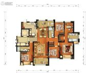 颐和湾花园5室2厅3卫192平方米户型图