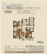 中南望京花园3室2厅2卫135--136平方米户型图