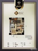 瀚都国际2室1厅1卫83平方米户型图