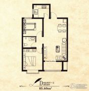 筑源18362室2厅1卫0平方米户型图