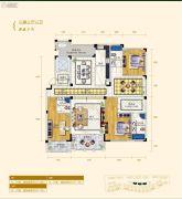 翠湖壹号3室3厅3卫235平方米户型图