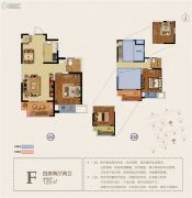 宝能城市广场4室2厅2卫129平方米户型图