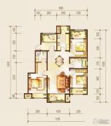 金科廊桥水岸3室2厅2卫128平方米户型图