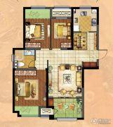 新城・香溢俊园3室2厅1卫95平方米户型图