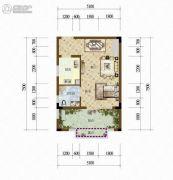 天籁谷1室1厅1卫41平方米户型图