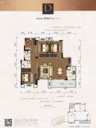 金辉优步花园4室2厅2卫125平方米户型图